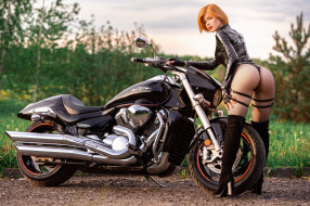 мотоциклы, мото с девушкой, мотоцикл, модель, анастасия жилина