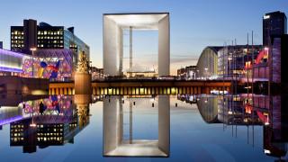 обои для рабочего стола 1920x1080 города, париж , франция, большая, арка, дефанс, париж, архитектура, монументальное, строение, коммуна, пюто, архитектурный, модернизм