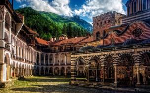 Рильский монастырь,Болгария обои для рабочего стола 1920x1200 рильский монастырь, болгария, города, - православные церкви,  монастыри, рильский, монастырь