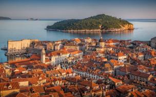 обои для рабочего стола 1920x1200 города, дубровник , хорватия, панорама