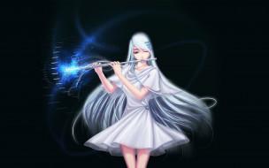 аниме, музыка, девушка, флейта