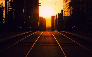 города, - улицы,  площади,  набережные, дорога, дома, улица, закат