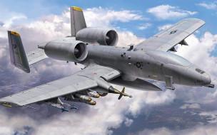 реактивный самолет, штурмовик, fairchild republic, a10, thunderbolt II, uav, drone, us airforce, darpa, a10, pcas project, combat aircraft, сша