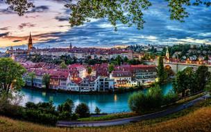 города, берн , швейцария, панорама