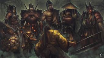 фэнтези, существа, воин, стрелы