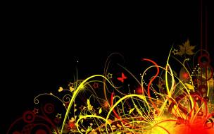 векторная графика, -графика , graphics, бабочка, звездочки, трава