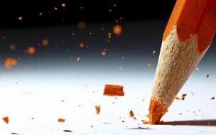 разное, канцелярия,  книги, карандаш, оранжевый, грифель, куски
