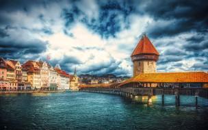 обои для рабочего стола 1920x1200 города, люцерн , швейцария, мост