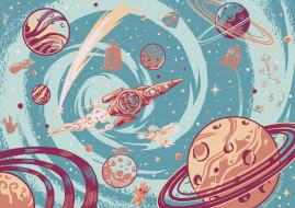 обои для рабочего стола 2560x1813 рисованное, кино,  мультфильмы, космос, планеты, пепелац, грут, говорун