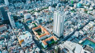 города, токио , япония, город, вид, сверху, здания, архитектура