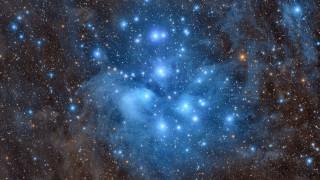 космос, галактики, туманности, плеяды