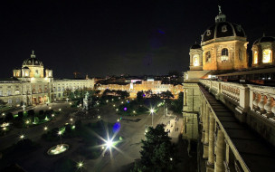 обои для рабочего стола 1920x1200 города, вена , австрия, панорама, вечер, огни