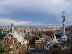 обои для рабочего стола 2272x1704 города, барселона , испания, панорама