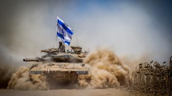 меркава, марк iv, танк, флаг, армия израиля, силы обороны израиля, песок