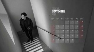 календари, знаменитости, сяо, джань, актер, пальто, окно, лестница