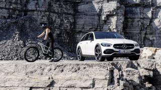 автомобили, mercedes-benz, mercedes, benz, c300, all, terrain, munich, motor, show, 2021, мерседес, велосипед