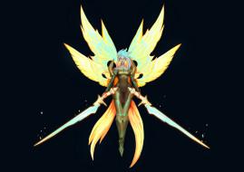 девушка, мечи, крылья, Kayle