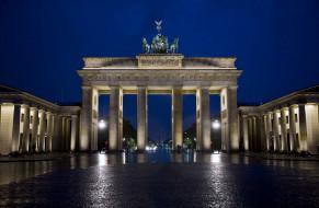 города, берлин , германия, бранденбургские, ворота