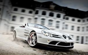 автомобили, mercedes-benz, мерседес, белый, здание