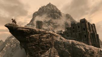 скалы, всадник, замок