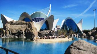 города, валенсия , испания, оригинальные, здания