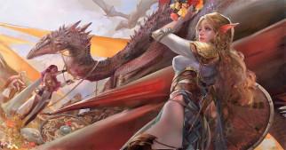 девушки, драконы