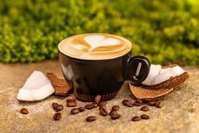 еда, кофе,  кофейные зёрна