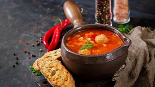 еда, первые блюда, суп, фрикадельки