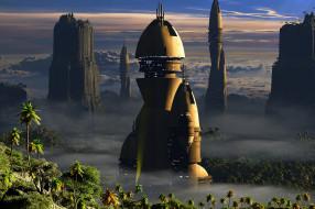 3д графика, фантазия , fantasy, колония, город
