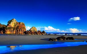 природа, побережье, небо, скалы, берег, море, камни