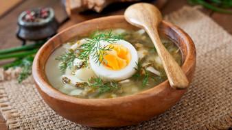 еда, первые блюда, щавелевый, суп, яйцо