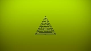 треугольник, лабиринт, зеленый