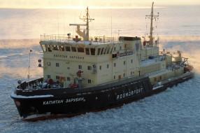 снег, лед, ледокол, капитан зарубин, rosmorport