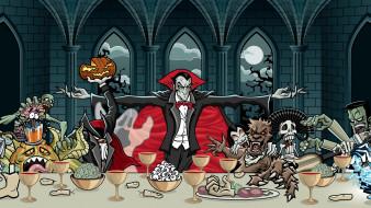 нечисть, Дракула, застолье