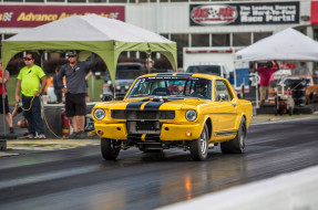 1965, mustang, yellow, dragster
