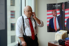 чиновник, телефон, окно, плакат