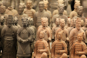 терракотовые воины, китай, историческая реликвия