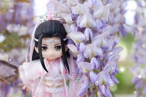 Лань Ванцзи, кукла, цветы