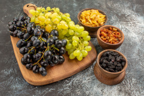 изюм, виноград, спелый, ассорти