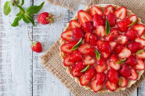 ягоды, клубника, мята