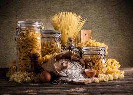 еда, макароны,  макаронные блюда, мука, яйца, ассорти