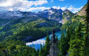thornton lake, north cascades np, природа, реки, озера, thornton, lake, north, cascades, np
