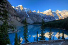 природа, пейзажи, горы, озеро, канада, moraine, lake