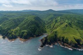итуруп, природа, побережье, остров, курилы, море, берег