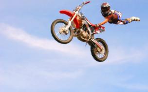спорт, мотоспорт, мотоцикл, мотоциклист, прыжок, полет, трюк