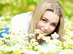 -Unsort Лица Портреты, девушки, unsort, лица, портреты, лето, настроение, ромашки, цветы, взгляд, блондинка