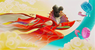 мультфильмы, -unknown , разное, женщина, китай, облака