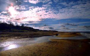 природа, реки, озера, небо, облака, река, берега