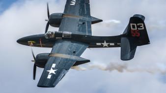 авиация, боевые самолёты, grumman, f7f, tigercat, двухмоторный, истребитель, вмс, сша