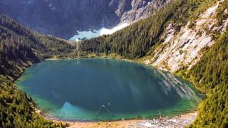 landslide lake, vancouver island, bc, природа, реки, озера, landslide, lake, vancouver, island